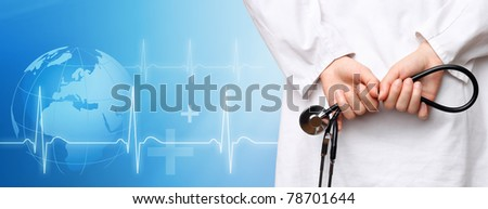 Medical background - stock photo