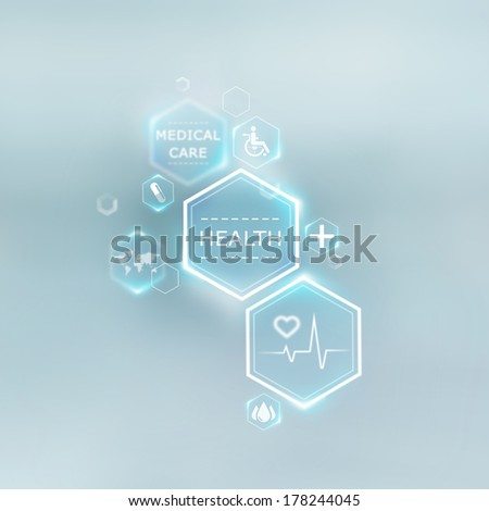 Medical background of symbols - stock photo