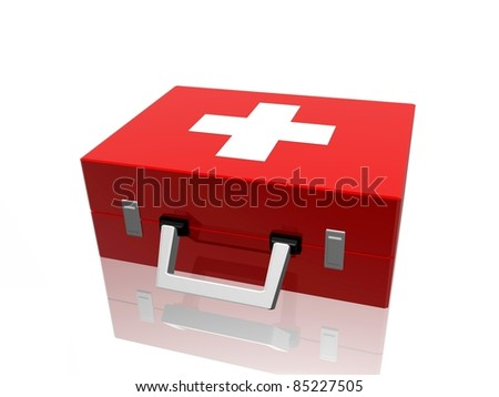 medical bag - stock photo