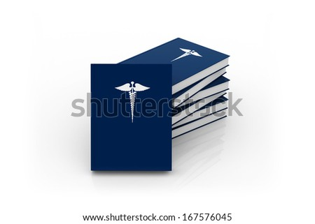 Medical book with logo - stock photo