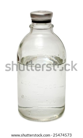 medical bottle isoalted on white