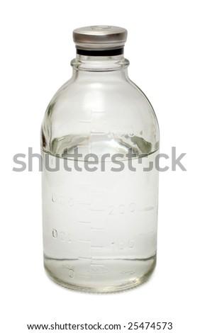 medical bottle isoalted on white - stock photo
