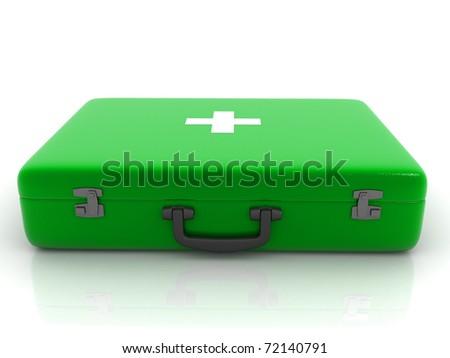 medical box isolated on white background - stock photo
