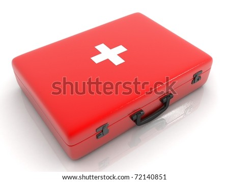 medical box isolated on white background