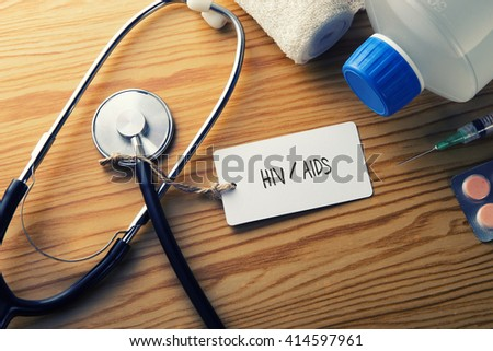 Medical Cancer-HIV - stock photo