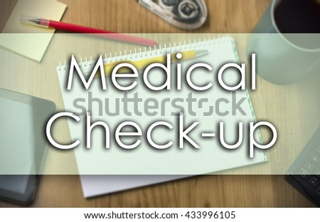 Medical Check-up - business concept with text - horizontal image - stock photo