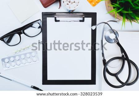 Medical clipboard - stock photo