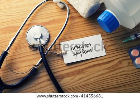Medical Concept-Ischaemia Symptoms - stock photo
