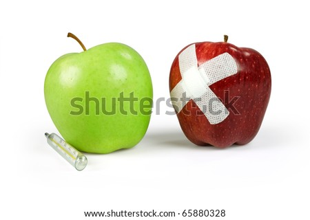 Medical concept with apples