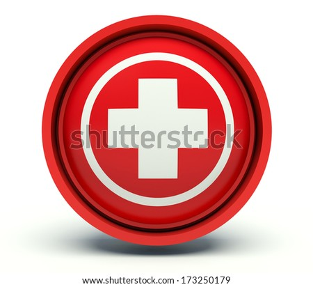 Medical cross sign. 3d render illustration.