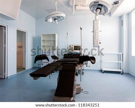 Medical-diagnostic equipment room. Therapeutic and diagnostic rooms with medical equipment. - stock photo