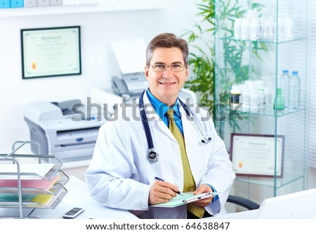 Medical doctor in the office - stock photo