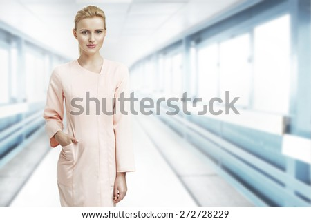 Medical doctor or laboratory worker - stock photo