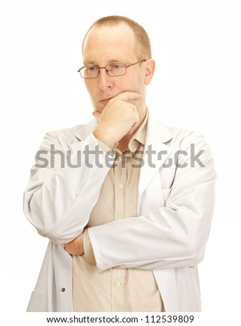 Medical doctor waiting for the next patient - stock photo