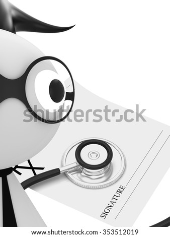 Medical doctor with stethoscope - stock photo