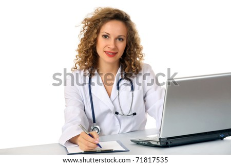 Medical doctor woman - stock photo