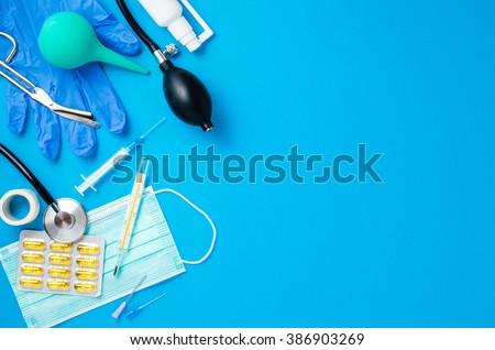 Medical equipment background - stock photo