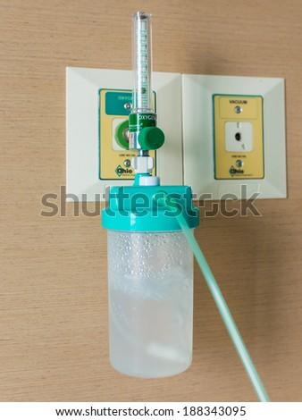 Medical equipment, respiratory equipment. - stock photo