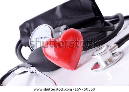 Medical equipment to check hart health - stock photo