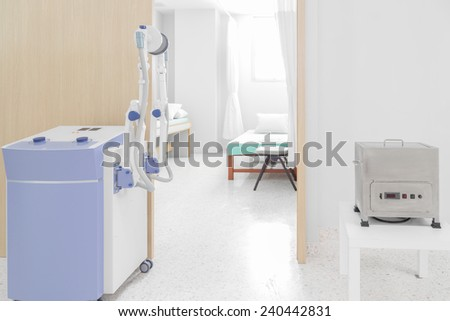 medical equipped with hospital room - stock photo