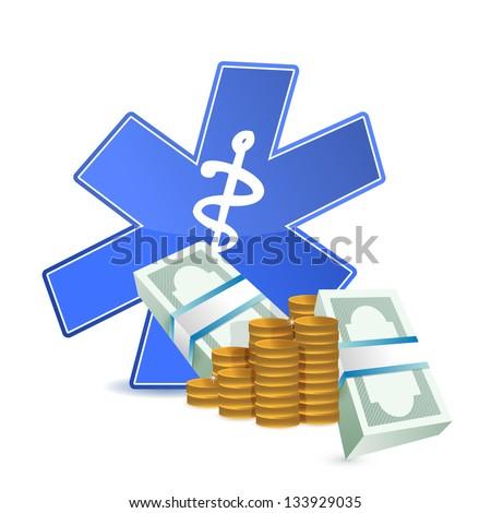 medical expenses illustration design over a white background - stock photo