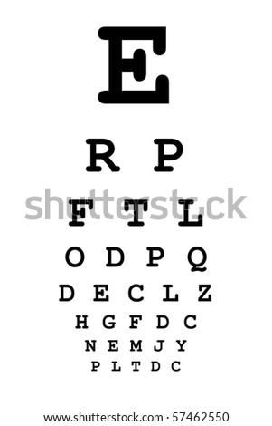 Medical eye chart for vision testing