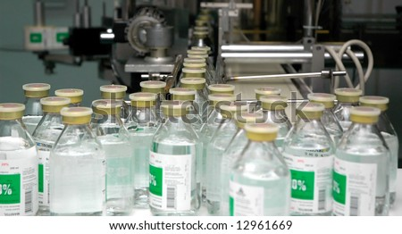 Medical factory - stock photo