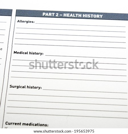 Medical Form - stock photo