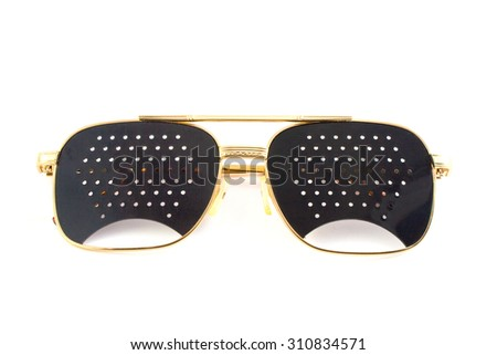 Medical glasses isolated on white background - stock photo