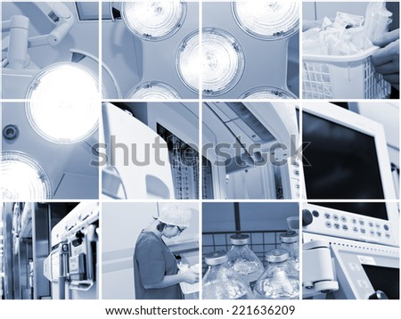 Medical - Healthcare Concept - nice collage - stock photo