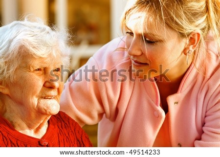 medical helping - stock photo