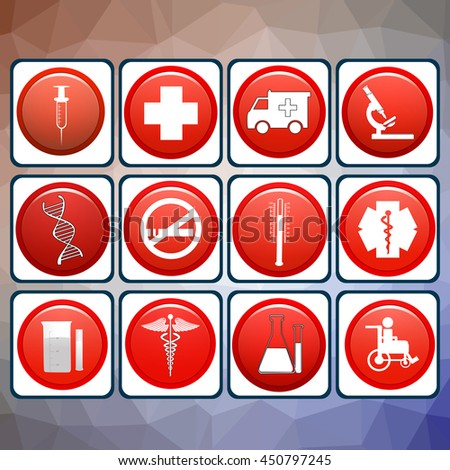 Medical Icons with White Background : NO.1 - stock photo
