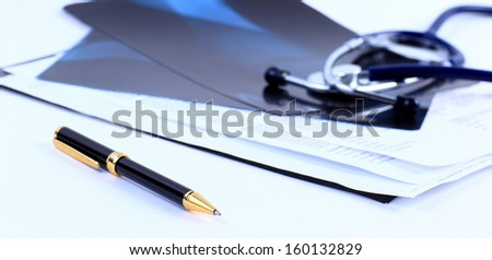 medical image handle paper - stock photo