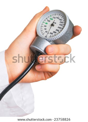 Medical instrument for measuring the pressure closeup.