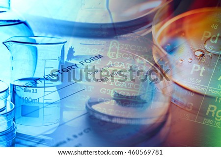 Medical instruments.Science concept. - stock photo