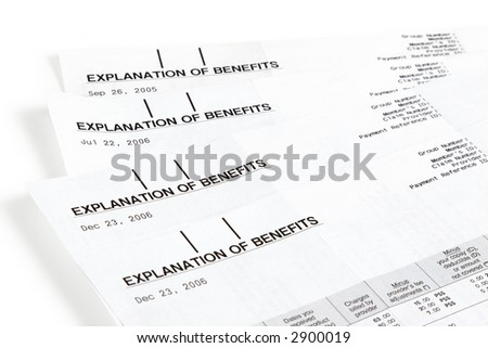 Medical insurance statements with benefit details
