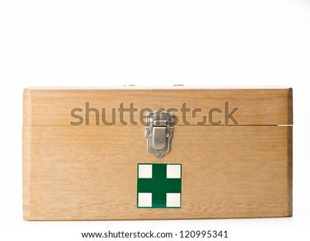 Medical kit isolated on white background - stock photo