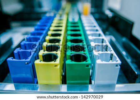 Medical laboratory equipment. Details - stock photo