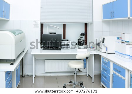medical laboratory equipment for analysis