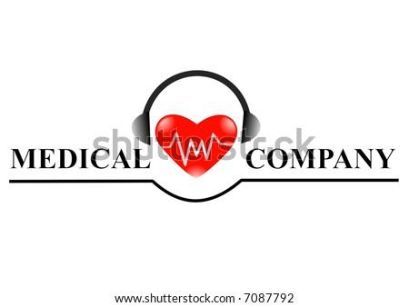 medical logo for web page design - company logo - stock photo