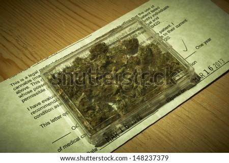 Medical Marijuana Prescription - stock photo