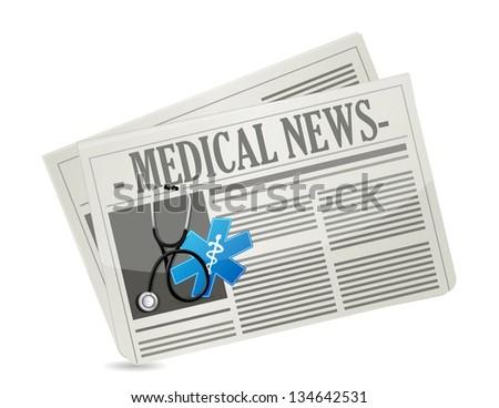 medical news concept illustration design over a white background - stock photo