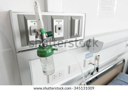 medical oxygen - stock photo
