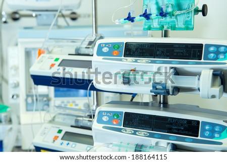 medical perfusion pump - stock photo