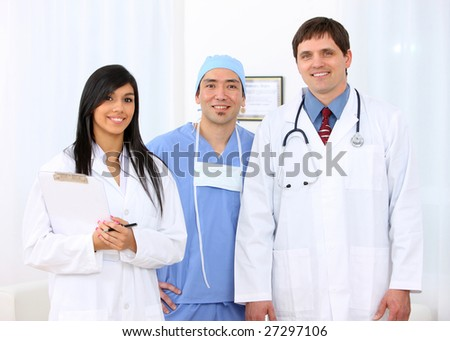 Medical personnel group portrait