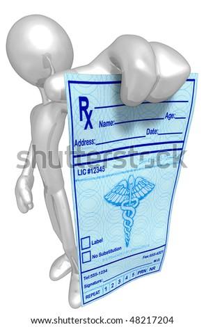 Medical Prescription - stock photo