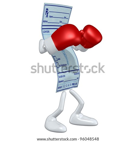 Medical Prescription Boxing - stock photo