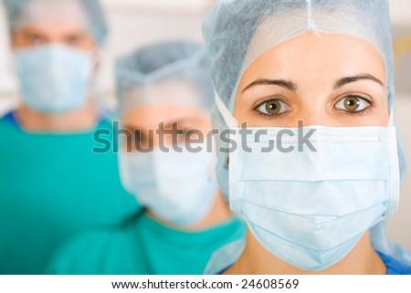 medical professionals closeup portrait - stock photo