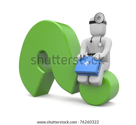 Medical question - stock photo