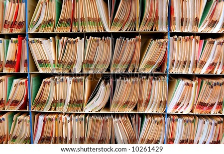 Medical Records - stock photo